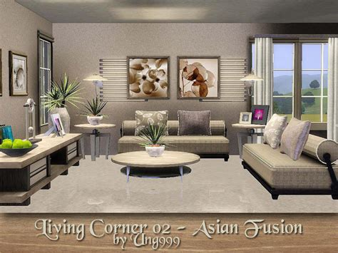 sims 2 living room set ung999 s living corner 02 asian fusion