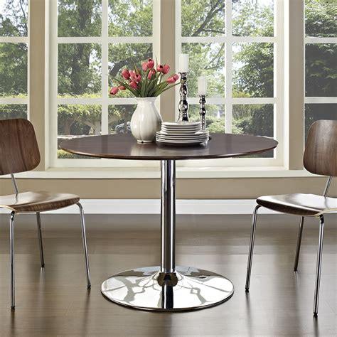 rostrum  wood top dining table walnut