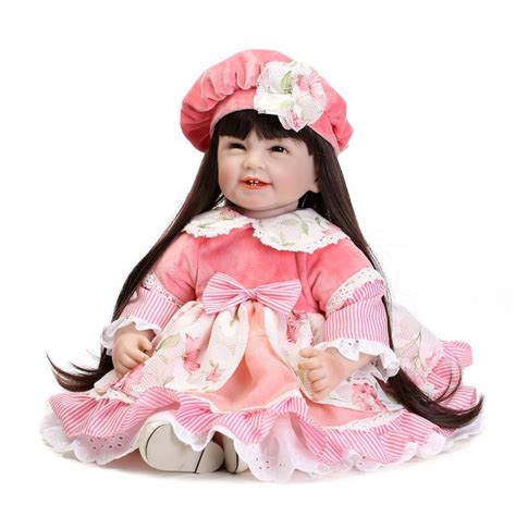 New Dress Baby Dolls High Quality high quality silicone vinyl princess dolls for toddler baby toys lifelike accompany baby