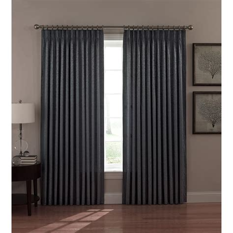 thermal drapes a l ellis dover pinch pleat thermal insulated curtains