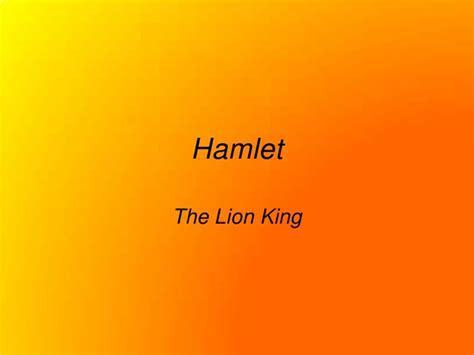 themes in hamlet and lion king hamlet lion king comparison