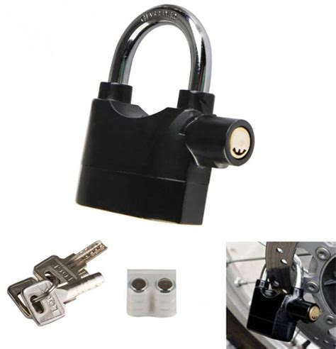 Alarm Motor gembok alarm motor suara anti maling lock siren black