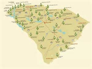 map of carolina state parks images