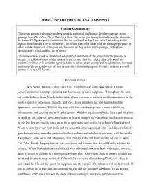 Sample Rhetorical Analysis Essay Textual Rhetorical Analysis Essay