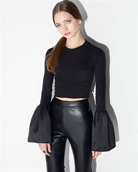 Flare Sleeve Shirt wholesale flare sleeve o neck t shirt cmk121469ba