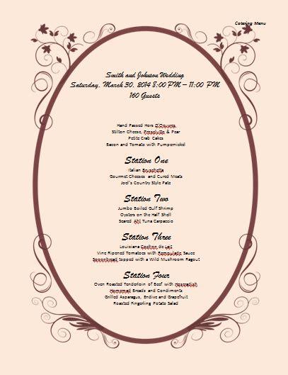 catering menus templates catering menu template microsoft word templates