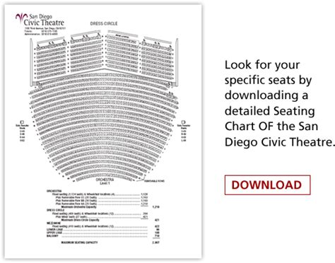 san diego civic theater seating chart san diego civic theatre broadway san diego