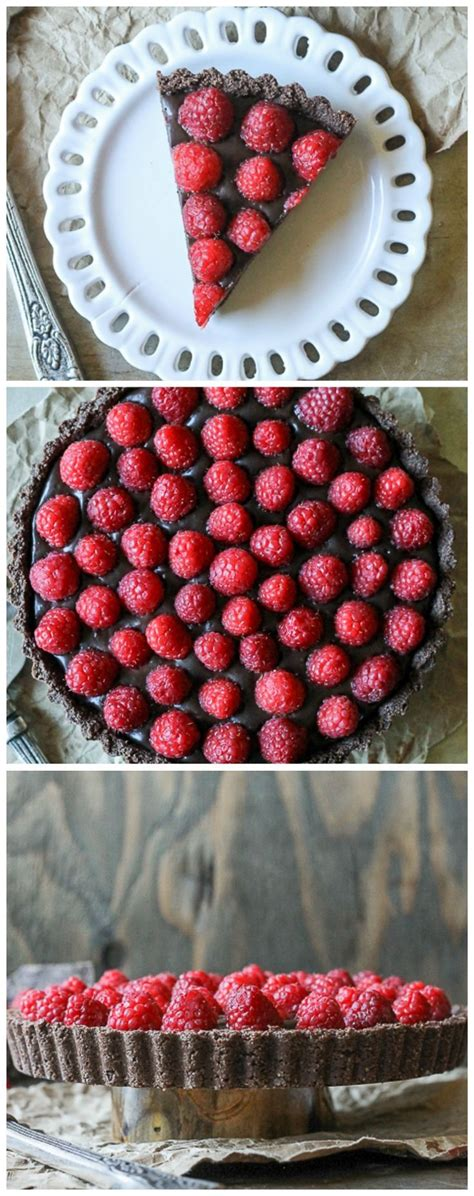 chocolate raspberry tart this no bake raspberry chocolate tart comes together in