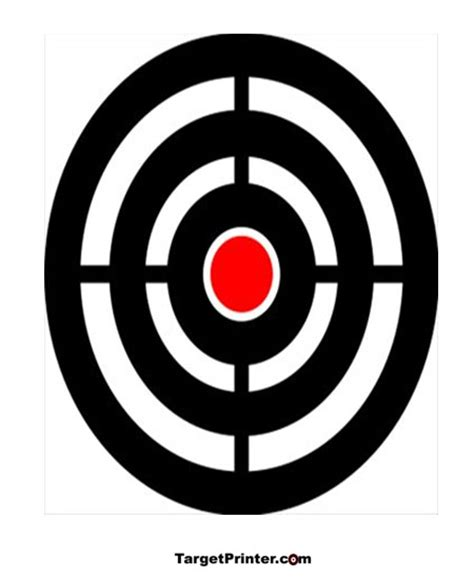 printable shooting targets bullseye pin bullseye printable on pinterest