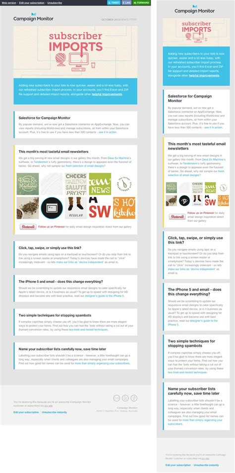 layout newsletter responsive 127 best images about email newsletter blast on pinterest