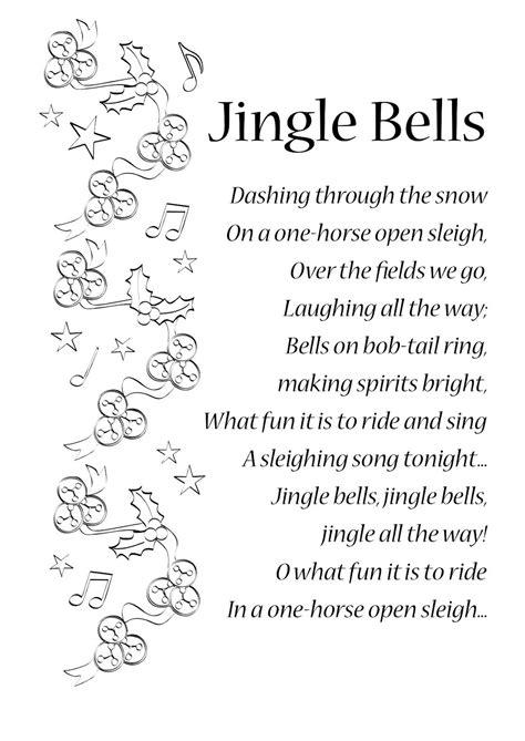 printable jingle bell rock lyrics lyrics to jingle bells english songs and rhymes lyrics