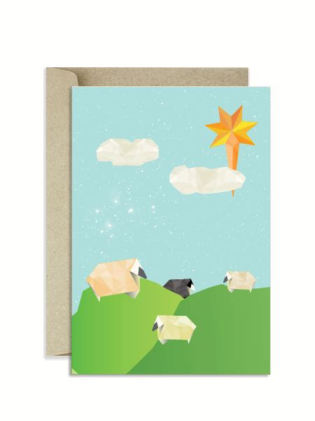 Origami Paper Nz - stargrazer sheep origami card