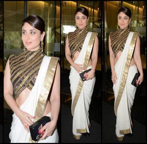 Kareena In High Neck Blouse by Fashion World Kareena Kapoor Indian