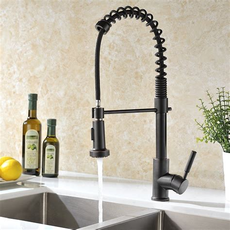rubbed bronze kitchen faucets jiguani rubbed bronze kitchen sink faucet