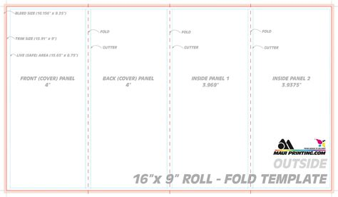 index card template indesign printing company inc 16 x 9 roll fold brochure