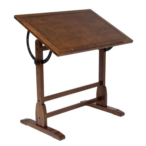 New Studio Designs Rustic Oak Vintage Drafting Table Drafting Tables