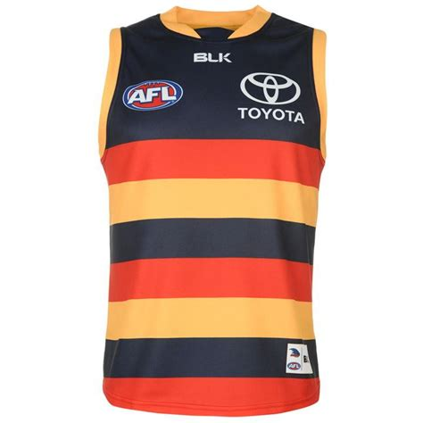 team blk adelaide crows jersey mens mens rugby replica