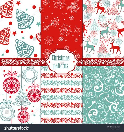 christmas pattern website collection christmas seamless pattern xmas texture stock