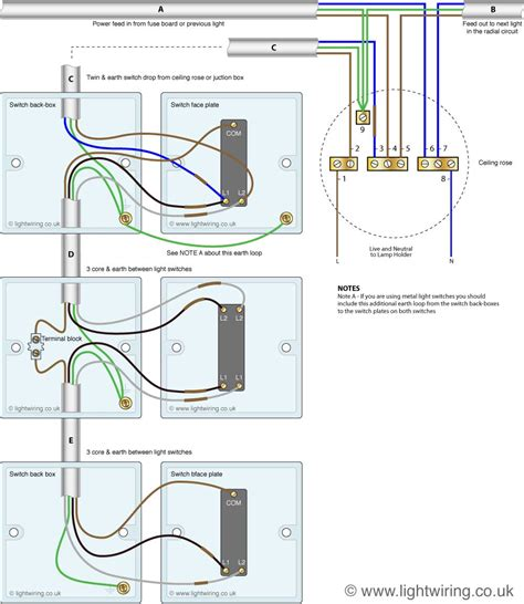 intermediate light switch wiring light wiring