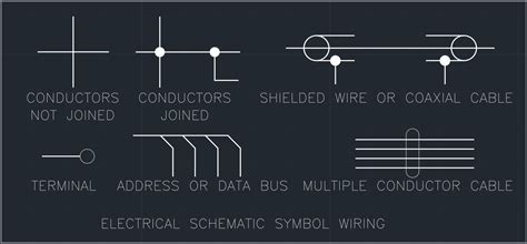 electrical schematic symbol wiring free cad block and
