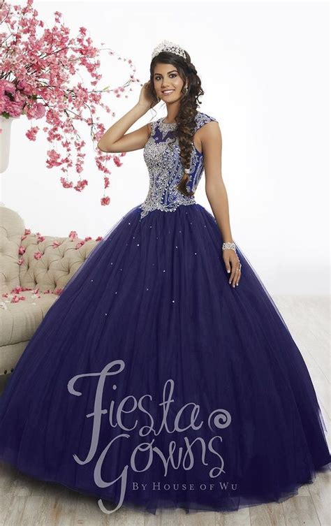 Wu Fiesta 56338 Cap Sleeve Quinceanera Ball Gown: French