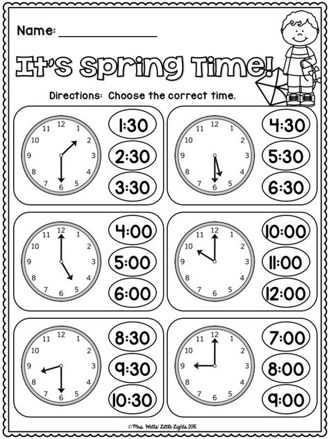 printable clocks to the hour telling time to the hour and half hour worksheets