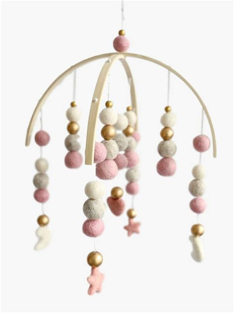 modern baby mobiles for crib modern crib mobile nursery decor in peach and mint for a
