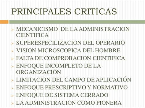 2 critica de la 9500393190 apreciacion critica de la adminstracion cientifica