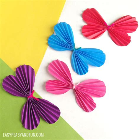 Butterfly Paper Crafts - how to make a paper butterfly template included easy