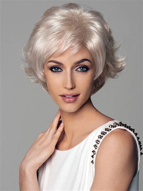 sweet shoulder length flip platinum lace front wig for a 17 best images about hair on pinterest short choppy bobs