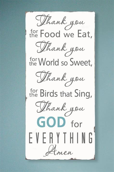 prayers that sing stir the books thank you for the food we eat blessing typography word