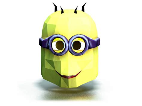 diy 3d minion paper mask all