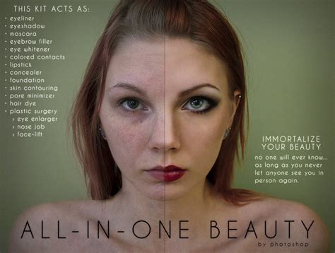 makeup psd templates for photoshop student project shows how photoshop damages beauty perception