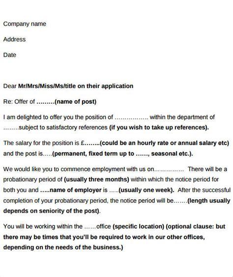 Offer Letter Bonus Verbiage 40 offer letter exles