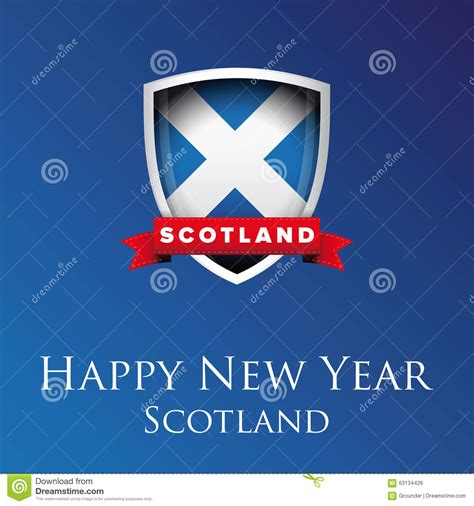 happy new year scotland vector stock illustration image