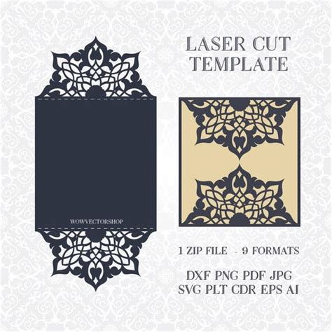 card template svg file svg pdf dxf png cdr papercutting template