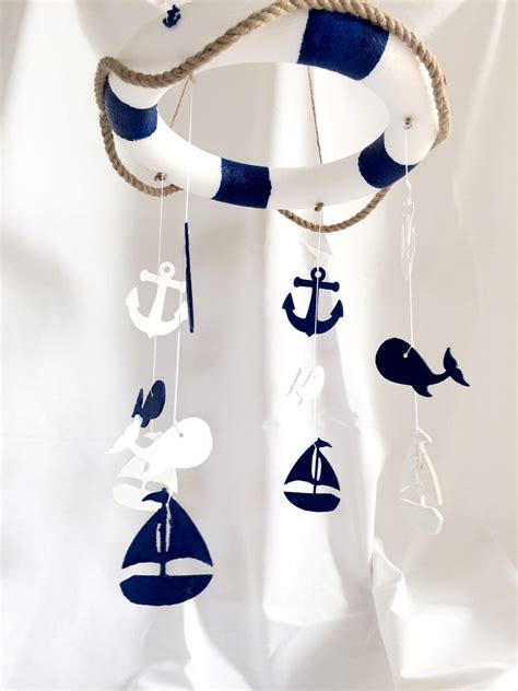 Nautical Crib Mobile by Ahoy Nautical Baby Crib Mobile Baby Mobiles By Theyellophant