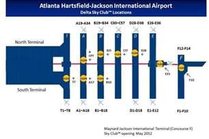 atlanta airport map atlanta hartsfield jackson sky club guide flyertalk forums