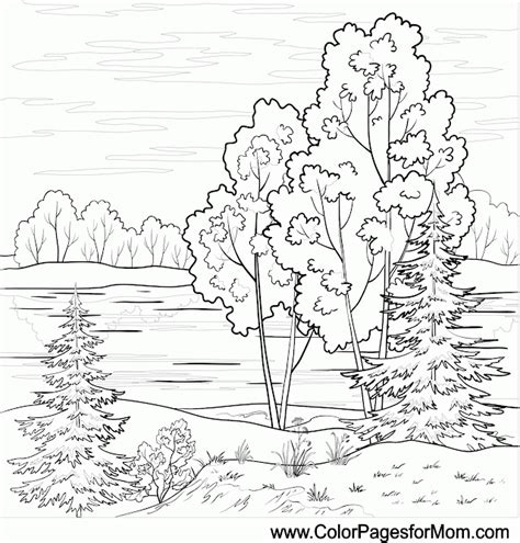 landscape coloring pages landscape coloring page for adults coloring home