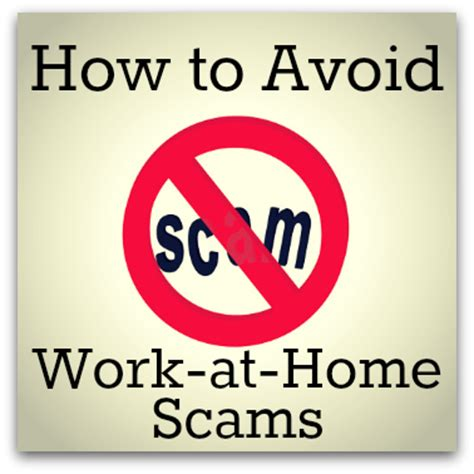 how to avoid work at home scams 5 minutes for