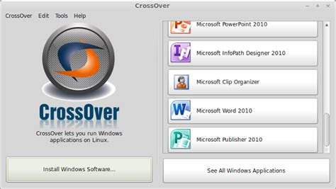 running windows xp programs on linux mint with crossover