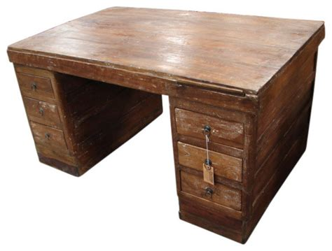 two sided desk sided writing desk industrial desks and hutches by tres amigos furniture and