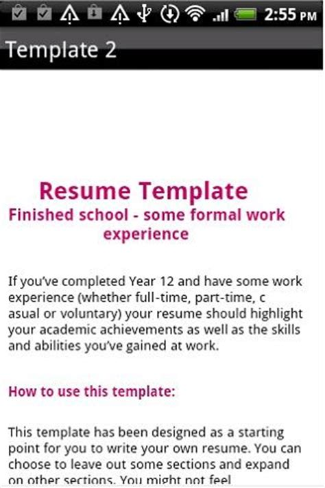 How To Write A Resume For A Play Resume Format Android Apps On Play