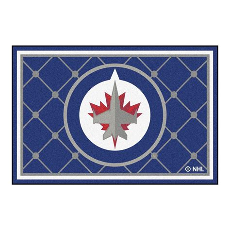 Area Rugs Winnipeg Fanmats Nhl Winnipeg Jets Blue 5 Ft X 8 Ft Indoor Area Rug 10523 The Home Depot
