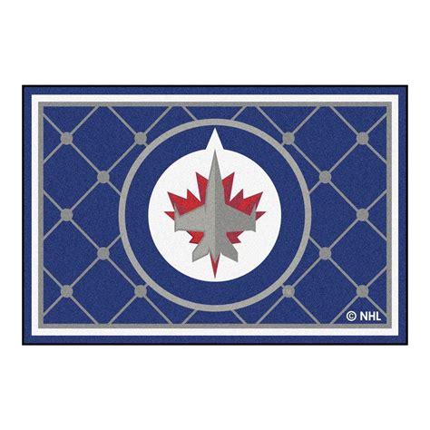 Winnipeg Area Rugs Fanmats Nhl Winnipeg Jets Blue 5 Ft X 8 Ft Indoor Area Rug 10523 The Home Depot