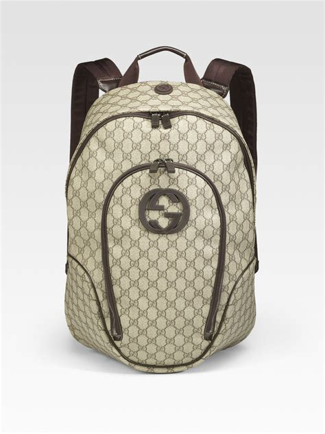 Backpack Guccl Gg Monogram 6317 gucci gg plus backpack in for lyst