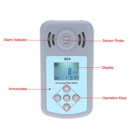 Alarm Gas Detector lcd display ammonia gas detector professional nh3 meter gas concentration analyzer temperature