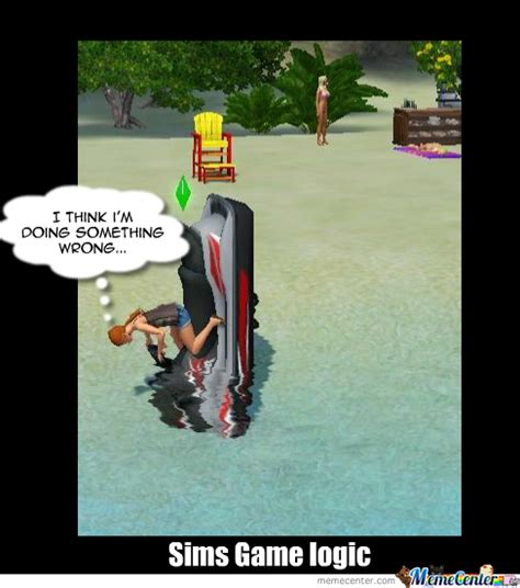 The Sims Meme - sims game logic by rita andrino meme center