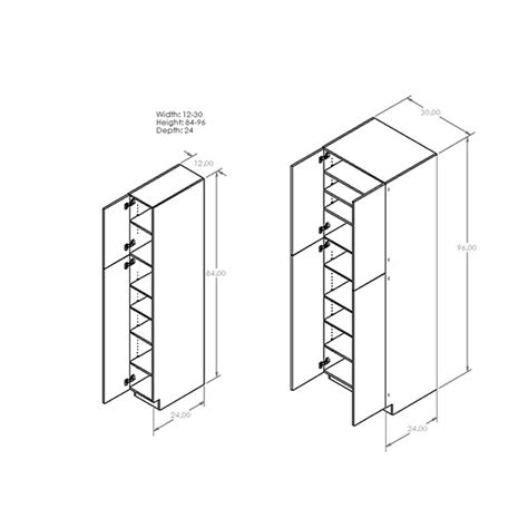 Pantry Cabinet Sizes by Corner Pantry Cabinet Dimensions Imanisr