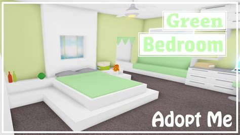 green modern bedroom speedbuild adopt  roblox youtube